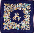 "Luxury Accessories:Accessories, Hermes Navy & Cream ""L'Intrus,"" by Antoine de Jacquelot SilkScarf. ..."