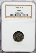 Proof Three Cent Nickels: , 1888 3CN PR64 NGC. NGC Census: (239/551). PCGS Population(363/596). Mintage: 4,582. Numismedia Wsl. Price for problemfree...