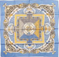 "Luxury Accessories:Accessories, Hermes Light Blue & Gold ""Animaux Solaires,"" by Zoe PauwelsSilk Scarf. ..."