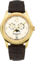 Timepieces:Wristwatch, Patek Philippe Ref. 5146 Very Fine Yellow Gold Annual Calendar WithCenter Seconds, Moon Phases & Power Reserve Indication. ...