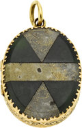 Estate Jewelry:Pendants and Lockets, Antique Gold-in-Quartz, Nephrite Jade, Gold Locket, circa 1860. ...