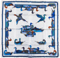 "Luxury Accessories:Accessories, Hermes Navy & White ""La Mare aux Canards,"" by Daphne DuchesneSilk Scarf. ..."