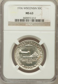 Commemorative Silver: , 1936 50C Wisconsin MS63 NGC. NGC Census: (80/3580). PCGS Population(312/5494). Mintage: 25,015. Numismedia Wsl. Price for ...
