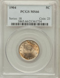 Liberty Nickels: , 1904 5C MS66 PCGS. PCGS Population (67/0). NGC Census: (68/2).Mintage: 21,404,984. Numismedia Wsl. Price for problem free ...