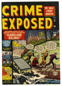Crime Exposed #14 Mile High pedigree (Atlas, 1952) Condition: FN/VF. Overstreet 2006 FN 6.0 value = $33; VF 8.0 value =...