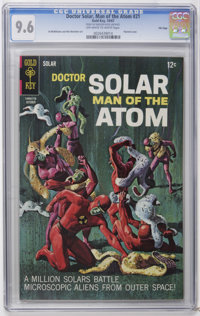 Doctor Solar #21 File Copy (Gold Key, 1967) CGC NM+ 9.6 Off-white to white pages. Painted cover. Al McWilliams and Win M...