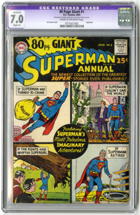 80 Page Giant #1 (DC, 1964) CGC Apparent FN/VF 7.0 Slight (A) Cream to off-white pages. Featuring Superman. Curt Swan co...