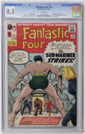 Silver Age (1956-1969):Superhero, Fantastic Four #14 (Marvel, 1963) CGC VF+ 8.5 White pages. The Fantastic Four take on both the Sub-Mariner and the Puppet Ma...
