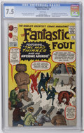 Silver Age (1956-1969):Superhero, Fantastic Four #15 (Marvel, 1963) CGC VF- 7.5 White pages. First appearance of the Thinker (aka the Mad Thinker) and his Awe...