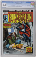 Bronze Age (1970-1979):Horror, Frankenstein #9 Don Rosa Collection pedigree (Marvel, 1974) CGC NM+9.6 White pages. Dracula cover and story. John Buscema c...