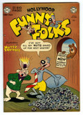 "Golden Age (1938-1955):Humor, Funny Folks #27 Davis Crippen (""D"" Copy) pedigree (DC, 1950) Condition: NM-. Title changes to Hollywood Funny Folks. Ove..."