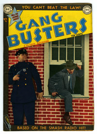 "Gang Busters #10 Davis Crippen (""D"" Copy) pedigree (DC, 1949) Condition: VF-. Photo cover. Ramona Fradon, Curt..."