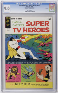 Hanna-Barbera Super TV Heroes #3 File Copy (Gold Key, 1968) CGC VF/NM 9.0 Off-white to white pages. Space Ghost cover an...