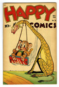 "Golden Age (1938-1955):Funny Animal, Happy Comics #28 Davis Crippen (""D"" Copy) pedigree (Standard, 1948)Condition: VF-. Overstreet 2006 VF 8.0 value = $58. Fr..."