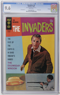 The Invaders #4 File Copy (Gold Key, 1968) CGC NM+ 9.6 White pages. Photo cover. Dan Spiegle art. Overstreet 2006 NM- 9...