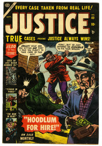 "Justice Comics #40 Davis Crippen (""D"" Copy) pedigree (Atlas, 1953) Condition: FN/VF. Overstreet 2006 FN 6.0 va..."