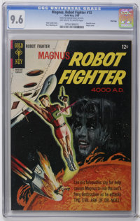 Magnus Robot Fighter #13 File Copy (Gold Key, 1966) CGC NM+ 9.6 Off-white to white pages. Painted cover. Russ Manning ar...
