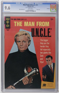 Man from U.N.C.L.E. #11 File Copy (Gold Key, 1967) CGC NM+ 9.6 White pages. Photo cover. Mike Sekowsky art. Overstreet 2...
