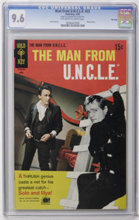 Man from U.N.C.L.E. #22 File Copy (Gold Key, 1969) CGC NM+ 9.6 Off-white to white pages. Last issue of the series. Joe C...
