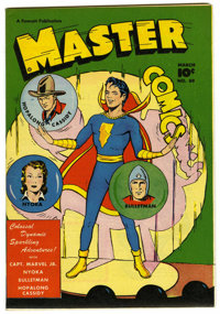 Master Comics #89 Mile High pedigree (Fawcett, 1948) Condition: NM-. Overstreet 2006 NM- 9.2 value = $180. From the Coll...