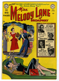 Miss Melody Lane of Broadway #2 Mile High pedigree (DC, 1950) Condition: VF+. Cover photos of Sid Caesar, Dinah Shore, M...