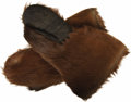 "Movie/TV Memorabilia:Costumes, ""Call of the Wild"" Costume Bear Skin Gloves. A pair of heavy-dutybear skin gloves used in the 1972 film adaptation of the c...(Total: 1 Item)"