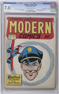 "Golden Age (1938-1955):War, Modern Comics #44 Davis Crippen (""D"" Copy) pedigree (Quality, 1945) CGC FN/VF 7.0 Cream to off-white pages. First issue with..."