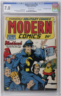 """Golden Age (1938-1955):War, Modern Comics #54 Davis Crippen (""""D"""" Copy) pedigree (Quality, 1946)CGC FN/VF 7.0 Off-white pages. Al Bryant cover featuring..."""