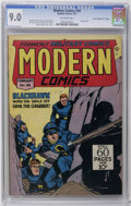 """Golden Age (1938-1955):War, Modern Comics #58 Davis Crippen (""""D"""" Copy) pedigree (Quality, 1947)CGC VF/NM 9.0 Off-white pages. Reed Crandall cover. Torc..."""