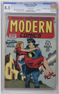 "Golden Age (1938-1955):War, Modern Comics #59 Davis Crippen (""D"" Copy) pedigree (Quality, 1947)CGC VF+ 8.5 Off-white pages. Reed Crandall cover and art..."