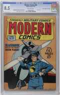 """Golden Age (1938-1955):War, Modern Comics #60 Davis Crippen (""""D"""" Copy) pedigree (Quality, 1947)CGC VF+ 8.5 Off-white pages. Reed Crandall cover and art..."""