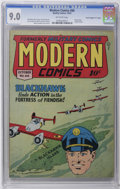 """Golden Age (1938-1955):War, Modern Comics #66 Davis Crippen (""""D"""" Copy) pedigree (Quality, 1947) CGC VF/NM 9.0 Off-white pages. Reed Crandall cover and a..."""
