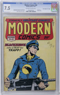 "Golden Age (1938-1955):War, Modern Comics #68 Davis Crippen (""D"" Copy) pedigree (Quality, 1947)CGC VF- 7.5 Off-white to white pages. Reed Crandall cove..."