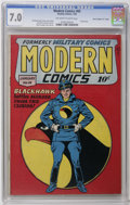 """Golden Age (1938-1955):War, Modern Comics #69 Davis Crippen (""""D"""" Copy) pedigree (Quality, 1948) CGC FN/VF 7.0 Off-white to white pages. Reed Crandall co..."""