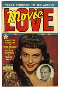 Golden Age (1938-1955):Romance, Movie Love #4 (Famous Funnies, 1950) Condition: VF+. PauletteGoddard photo cover. Overstreet 2006 VF 8.0 value = $50; VF/NM...