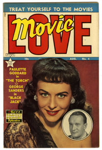 Movie Love #4 (Famous Funnies, 1950) Condition: VF+. Paulette Goddard photo cover. Overstreet 2006 VF 8.0 value = $50; V...