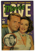 Golden Age (1938-1955):Romance, Movie Love #9 (Famous Funnies, 1951) Condition: VF-. Gene Tierney,John Lund, Glenn Ford, and Rhonda Fleming photo cover. Ov...