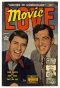 Golden Age (1938-1955):Romance, Movie Love #12 (Famous Funnies, 1951) Condition: VG/FN. Dean Martinand Jerry Lewis photo cover. Pre-dates Adventures of D...