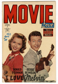 Movie Love #20 (Famous Funnies, 1953) Condition: NM-. Debbie Reynolds and Donald O'Connor photo cover. Overstreet 2006 N...
