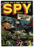 Golden Age (1938-1955):Adventure, Spy Cases #9 Mile High pedigree (Atlas, 1952) Condition: VG+. Sol Brodsky art. Overstreet 2006 VG 4.0 value = $24. From th...