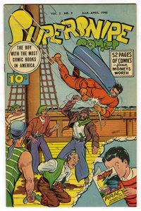Supersnipe Comics V3#2 Mile High pedigree (Street & Smith, 1946) Condition: VF/NM. Overstreet 2006 VF/NM 9.0 val...