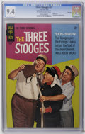 Silver Age (1956-1969):Humor, Three Stooges #27 File Copy (Gold Key, 1966) CGC NM 9.4 Off-white to white pages. Photo cover. Little Monsters backup story....