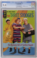 Silver Age (1956-1969):Humor, Three Stooges #30 File Copy (Gold Key, 1966) CGC NM 9.4 Off-white to white pages. Photo cover. Little Monsters backup story....