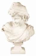 Fine Art - Sculpture, European:Antique (Pre 1900), A French Marble Sculpture: Le Rieur Napolitain.Jean-Baptiste Carpeaux (French, 1827-1875) . Late 19th centur...