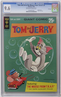 Tom and Jerry The Mouse From T.R.A.P. #1 File Copy (Gold Key, 1966) CGC NM+ 9.6 Off-white to white pages. Painted cover...
