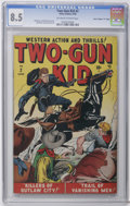 "Golden Age (1938-1955):Western, Two-Gun Kid #2 Davis Crippen (""D"" Copy) pedigree (Marvel, 1948) CGCVF+ 8.5 Off-white to white pages. Syd Shores and Bill Ev..."
