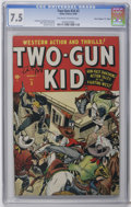 """Golden Age (1938-1955):Western, Two-Gun Kid #3 Davis Crippen (""""D"""" Copy) pedigree (Marvel, 1948) CGC VF- 7.5 Off-white to white pages. Syd Shores and Bill Ev..."""