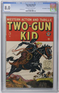 "Golden Age (1938-1955):Western, Two-Gun Kid #6 Davis Crippen (""D"" Copy) pedigree (Marvel, 1949) CGC VF 8.0 Off-white to white pages. Syd Shores cover. Overs..."