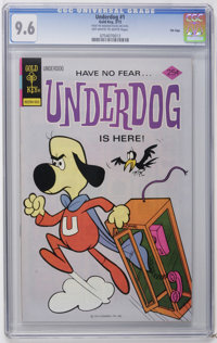 Underdog #1 File Copy (Gold Key, 1975) CGC NM+ 9.6 Off-white to white pages. Overstreet 2006 NM- 9.2 value = $90. CGC ce...