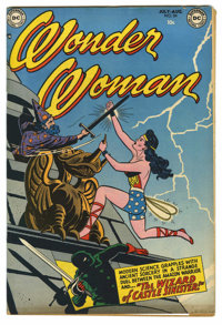 "Wonder Woman #54 Davis Crippen (""D"" Copy) pedigree (DC, 1952) Condition: VF. This copy could not be encapsulat..."